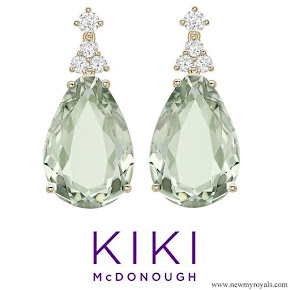 Kate Middleton Kiki McDonough candy mini green amethyst and diamond earrings