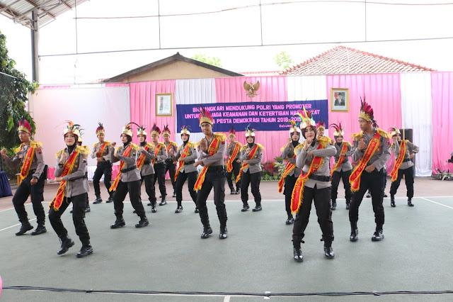 Meriahnya Puncak Peringatan HKGB ke 66 Bhayangkari Cabang Kebumen