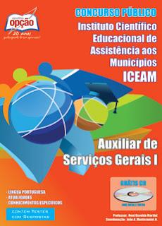 Apostila da ICEAM Auxiliar de Serviços Gerais I