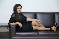 Telugu Actress Karunya Chowdary Latest Stills in Black Short Dress at Edo Prema Lokam Audio Launch .COM 0128.JPG