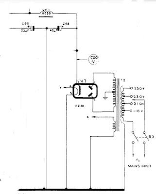 bush VHF 54 double diode thermionic full-wave rectifier