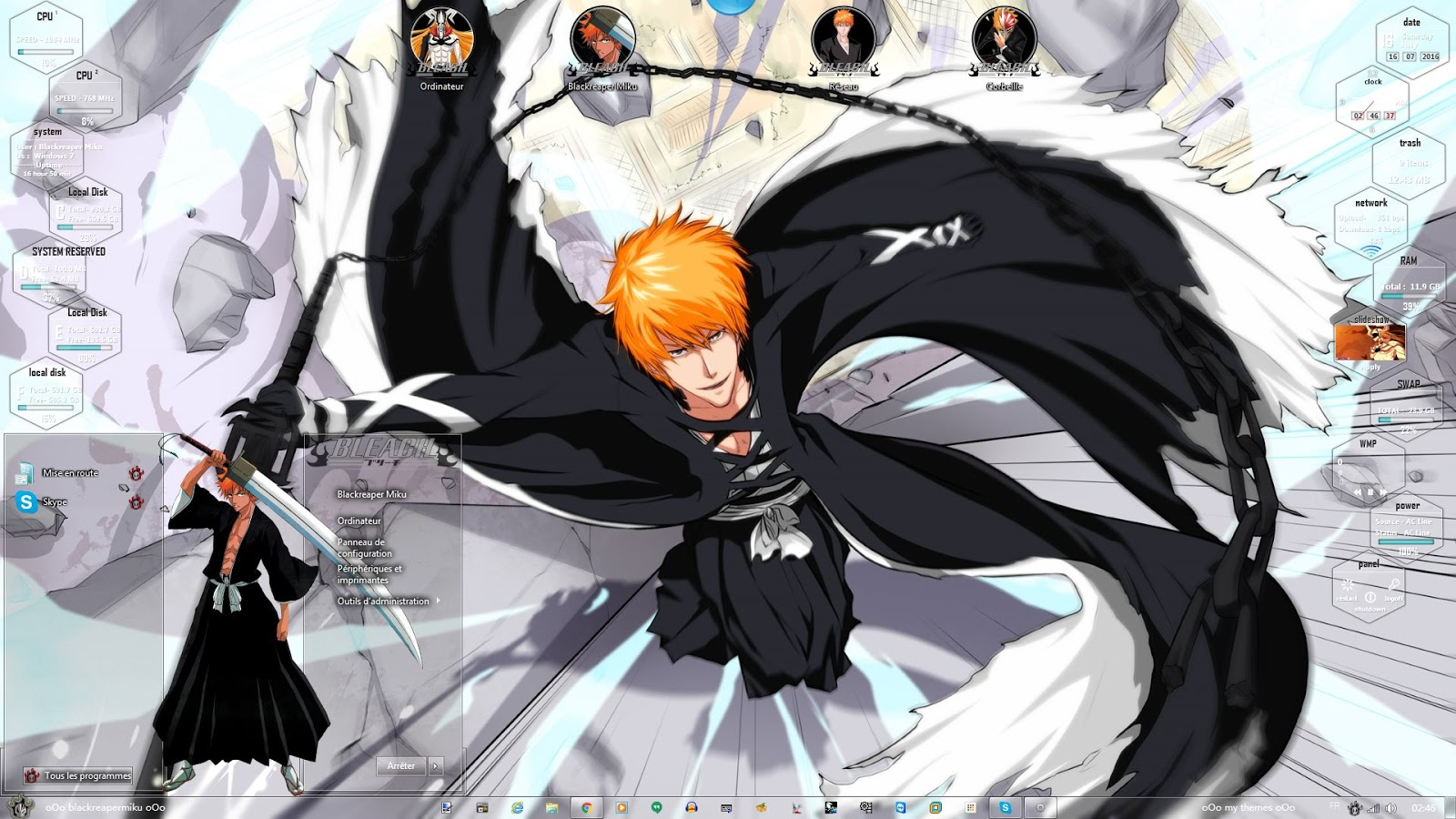 Google themes bleach - Hello Everybody Today I Make An New Version From The Bleach Theme I Hope You Like It This Way