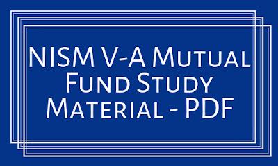 NISM V-A Mutual Fund Study Material - PDF