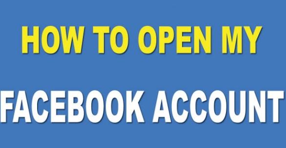 Open my facebook account please