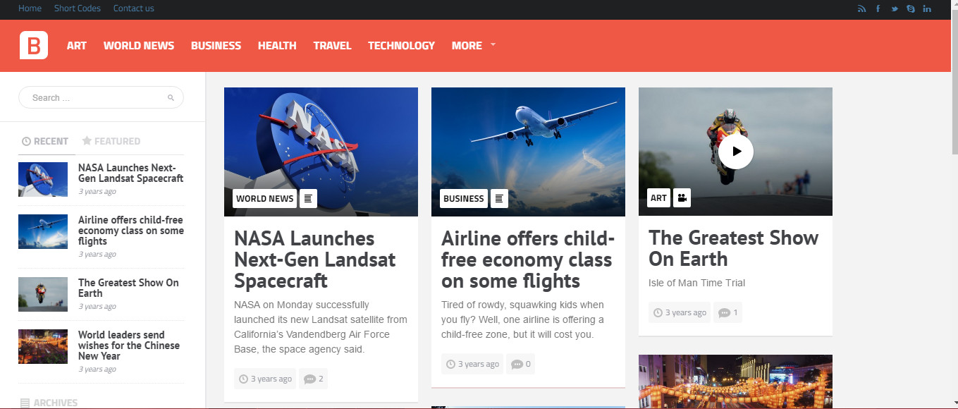 Bayside- Mashable Style themes for WordPress