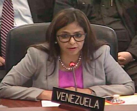La confusión de Delcy en la OEA que generó risas