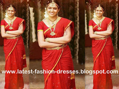 red colour saree