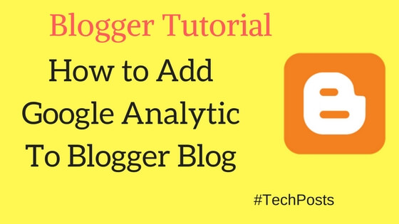 how to add google analytic to blogger