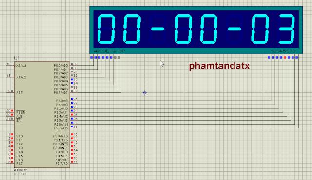 [8051 TUTORIAL] BÀI 15 Đồng hồ số dùng timer tạo thời gian trễ