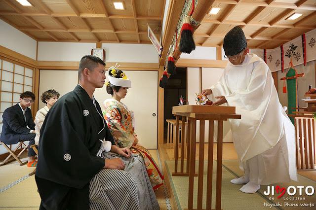 三重県熊野市の産田神社での挙式撮影