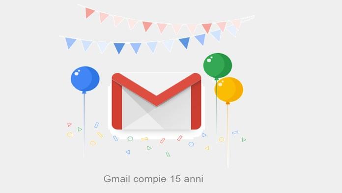 Gmail ha compiuto 15 anni