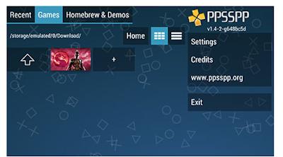 cara install game psp di android dengan menggunakan emulator ppsspp