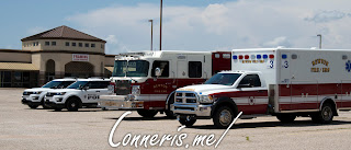 Attending Emergency personnel vehicles
