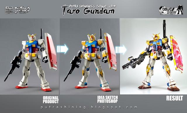 GBWC 2018 MALAYSIA: Taro Gundam [MG RX-78-2 GUNDAM THE ORIGIN] by Putra Shining