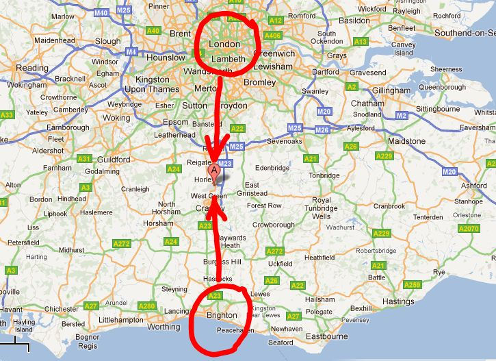 Map Of England Gatwick.Senang Travel Press Release Air Asia X Arrives At London Gatwick