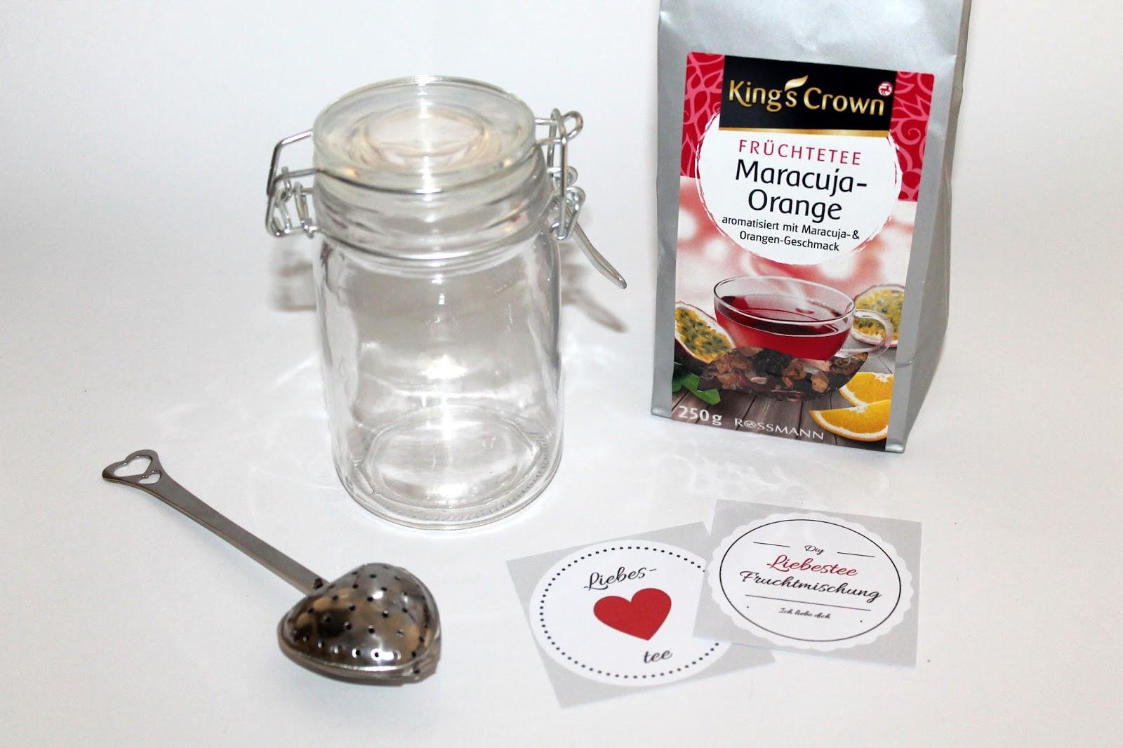 ♡ Ein Geschenk mit Herz: DIY Geschenke aus dem Glas Liebestee {mit ...