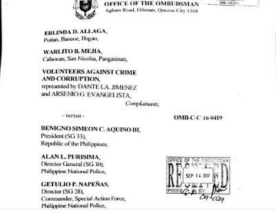 Ombudsman affirms criminal charges vs former Pres Benigno 'Noynoy' Aquino over Mamasapano
