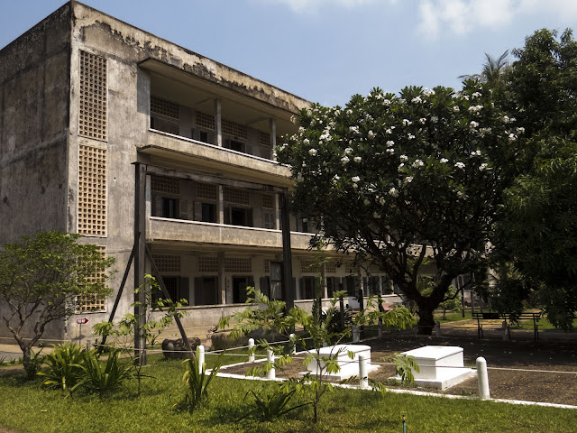 Former school that was turned into a prison during the Khmer Rouge regime in Phnom Penh Cambodia