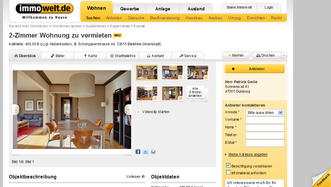 Duisburg Wohnung  Zimmer