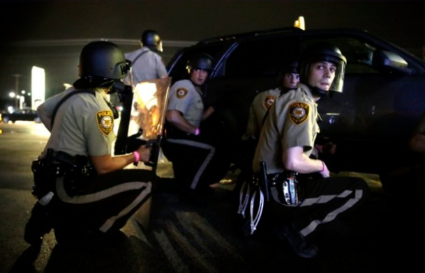 open fire in Ferguson anniversary