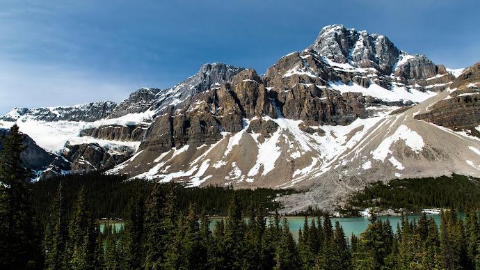 Wallpaper: Natural Scenery. Banff National Park. Bow Lake