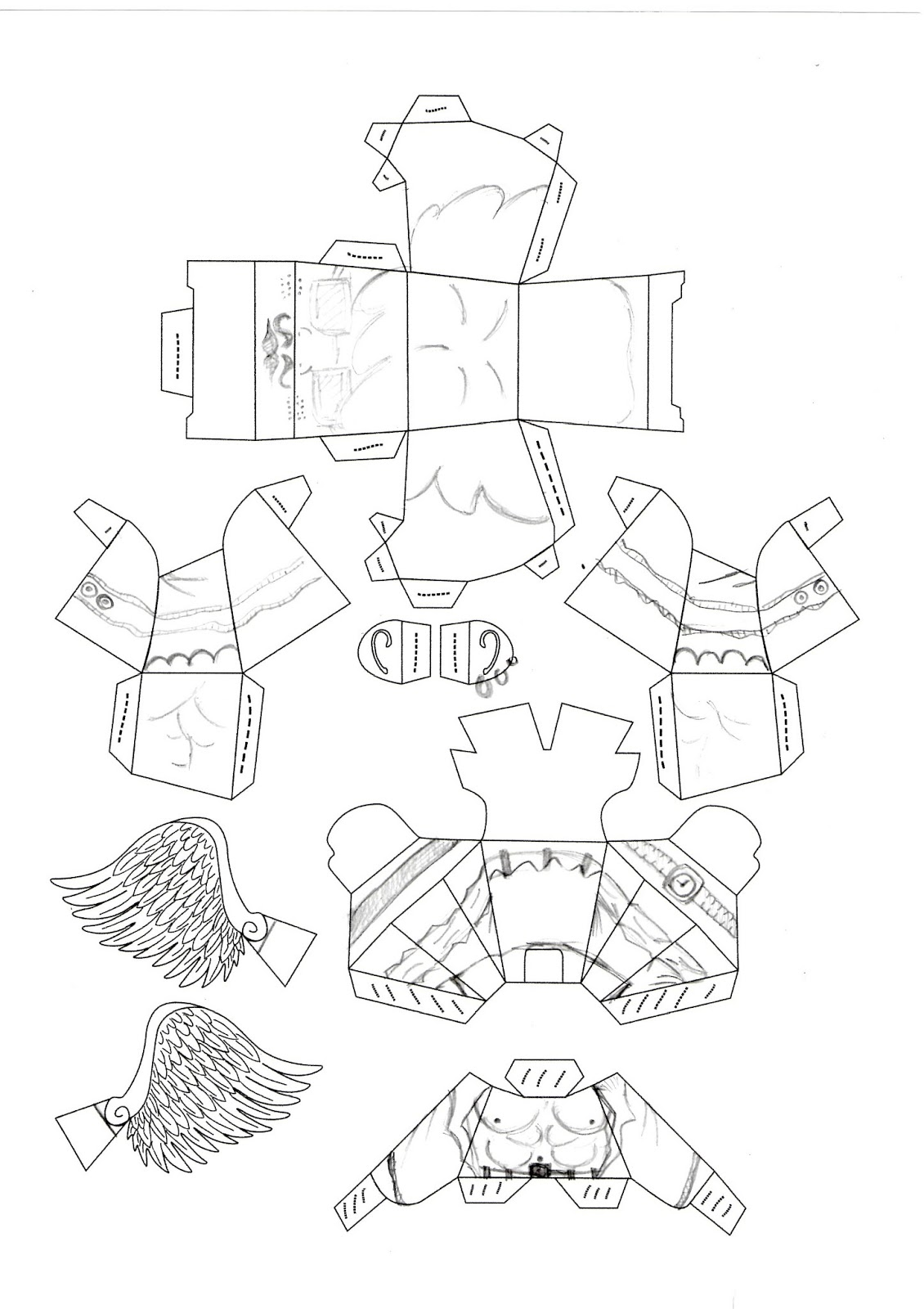 Paper Toy Outline