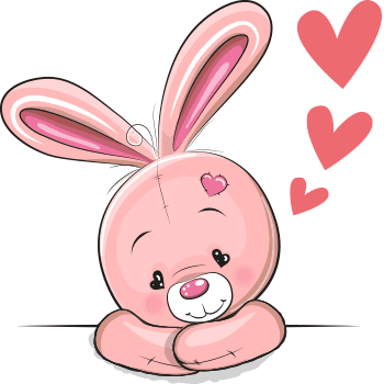 Lovely bunny emoji