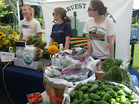 market stand with USDA Organic produce