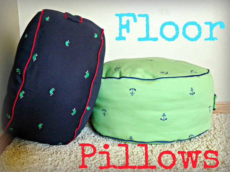 Candace Creations: Land of Nod Floor Pillow Knock Off