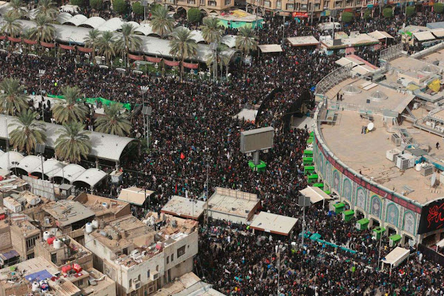 Walk to heaven': Shiite pilgrims trek to Iraq's Karbala