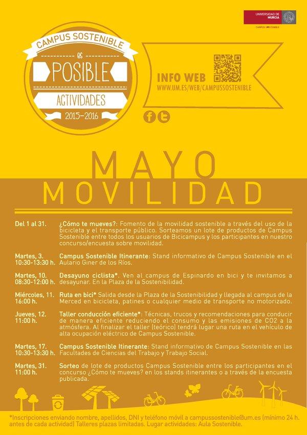 """Campus Sostenible: """"Mayo: movilidad"""""""