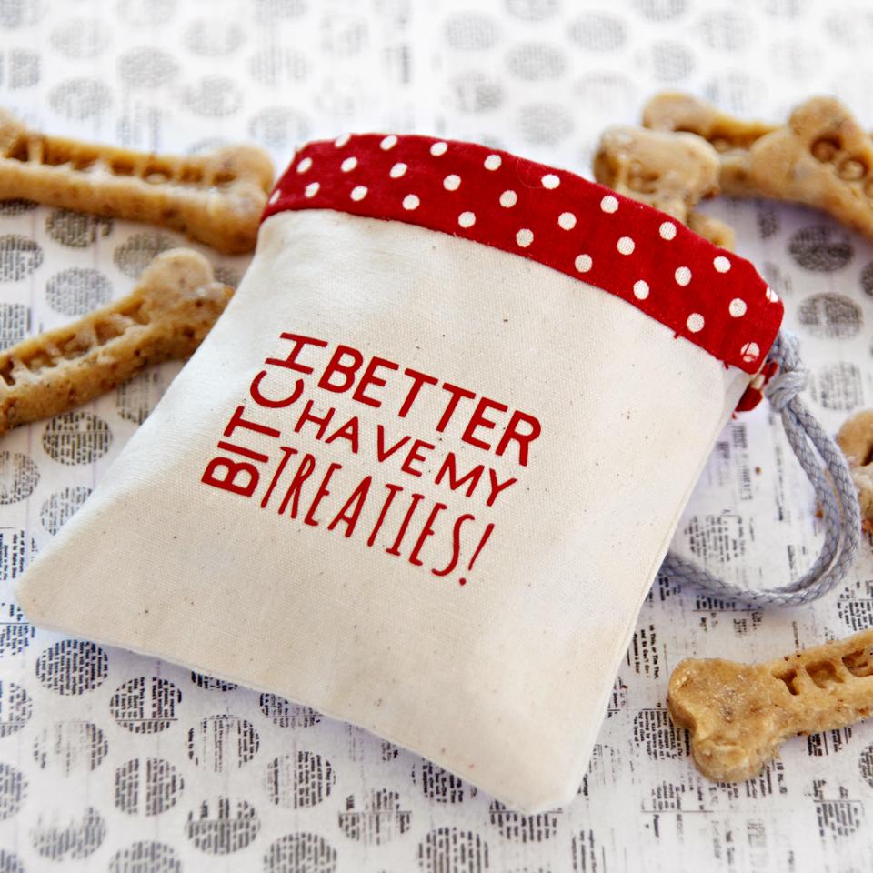 Creativity Unmasked: DIY Drawstring Dog Treat Bag with