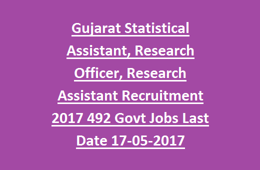 Gujarat GUJECOSTAT Statistical Assistant, Research Officer