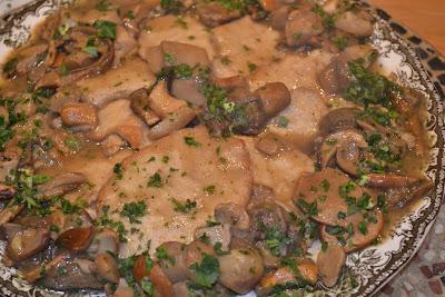 ricetta scaloppe ai funghi