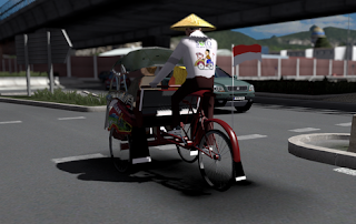 Mod traffic Becak ets2 by yuli indrayana