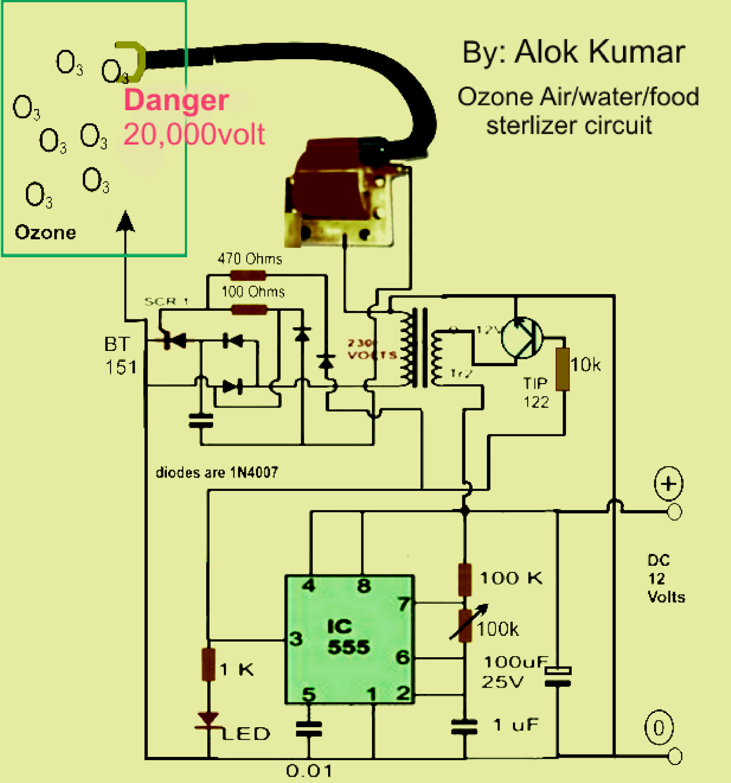 High Power Led Driver Circuit Diagram 1996 Ford Bronco Wiring Electronic Circuits Transformerless Supply