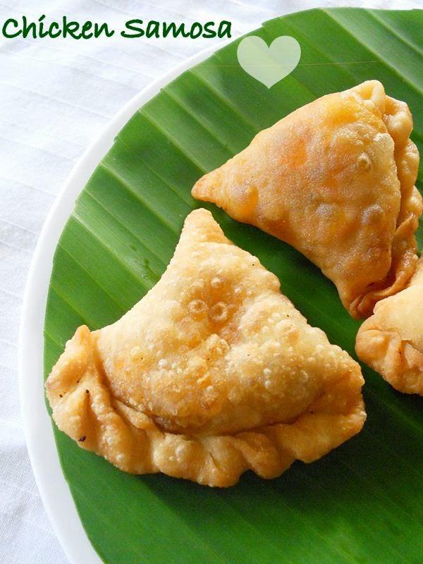 Chicken Samosa Recipe, Malabar Chicken Samosa (Kerala ...