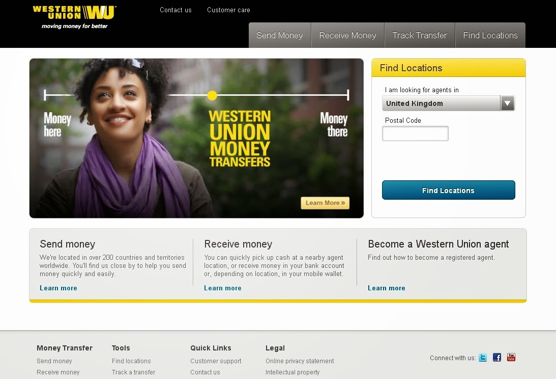 Western Union Screen