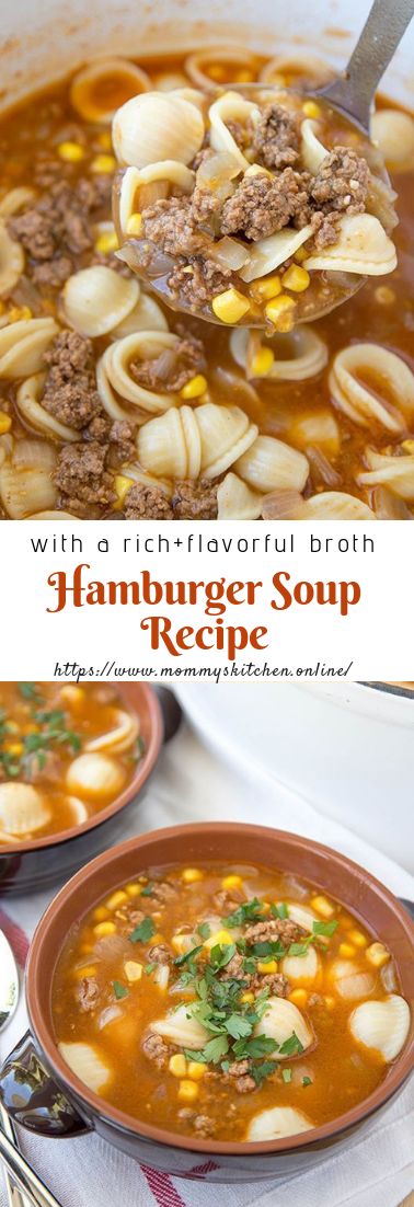 Hamburger Soup Recipe #dinner #souprecipe