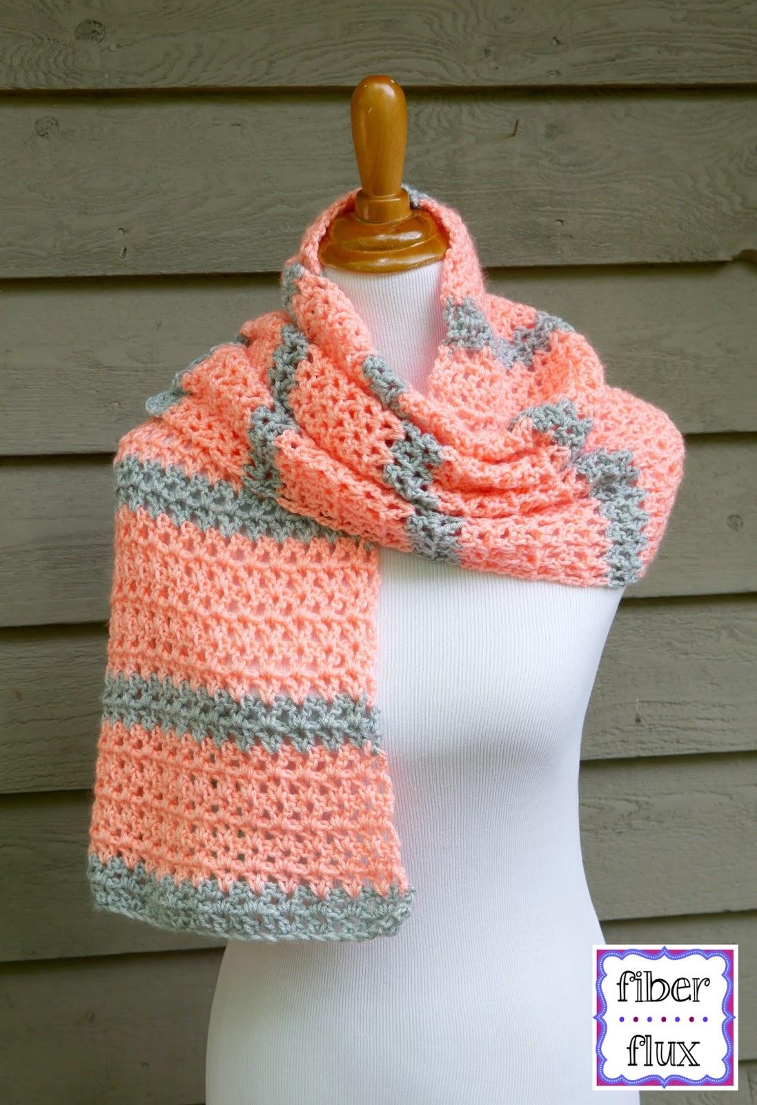 Fiber Flux Free Crochet Patterntangerine Waves Wrap