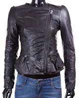 Geaca Zara Dama Karla Black Leather (Zara)