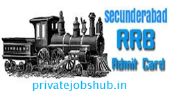 RRB Secunderabad Admit Card