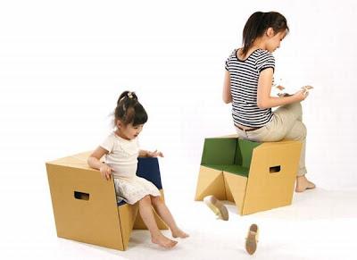 Silla para bebes diseñada con una caja.