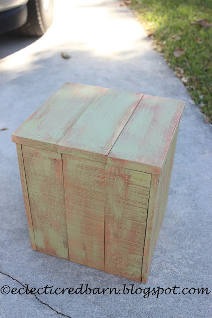 Eclectic Red Barn: Finished painted wooden box