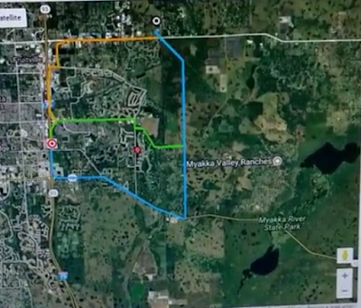 Three options for new FPL Power Line Routes East of I-75