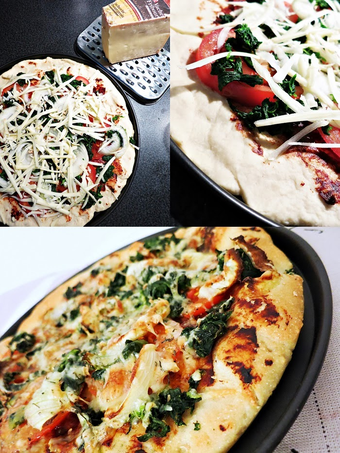 Vegetarische Pizza mit Vacherin Fribourgeois AOP