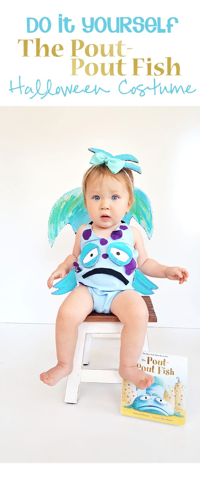 Diy the pout pout fish baby halloween costume inspired by the this little costume will leave your little pout pout fish feeling smooch worthy and solutioingenieria