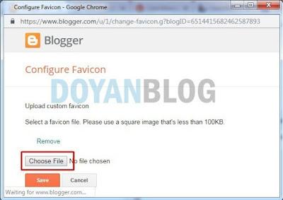 pilih file gambar atau logo favicon