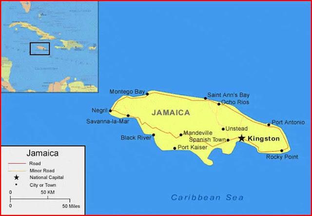 Gambar Peta Jamaika