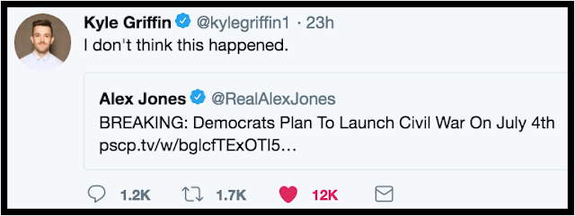 July 4 @Kylegriffin1 responding the Alex Jones warning of a Dem civil war